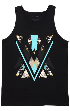 Marley Apparel Contrast Black Tank Top