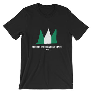 Black T-shirt with green and white coloured crown