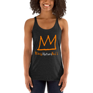 black vest orange crown logo