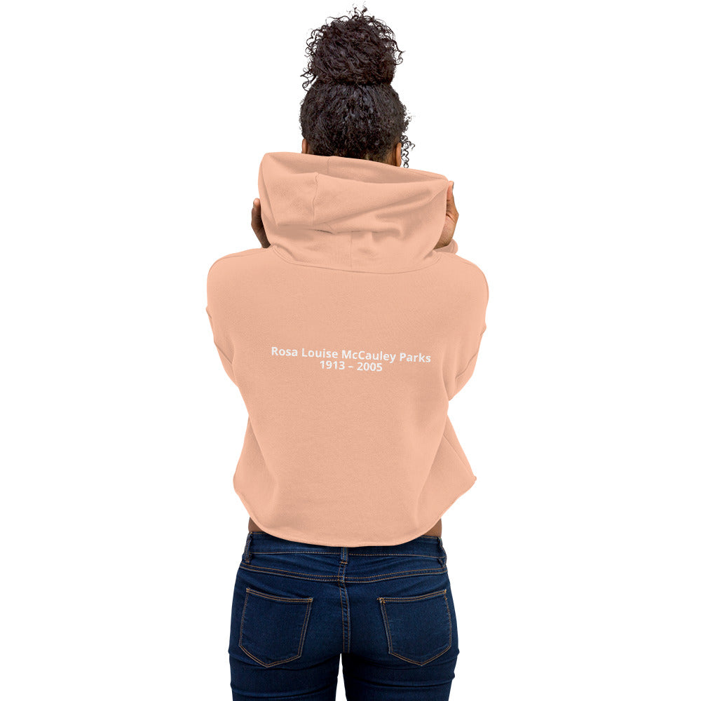 Rosa Mood Women's Fleece Crop Hoodie