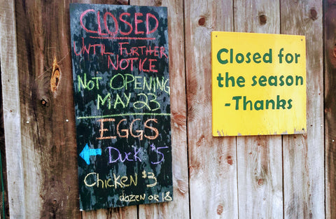 Farm Stand Closed Sign