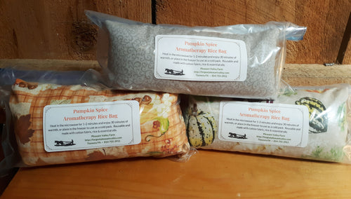 Pumpkin Spice Scented Aromatherapy Heating or Cooling Wrap, All-Natural Rice Bag. Reusable and Earth Friendly!