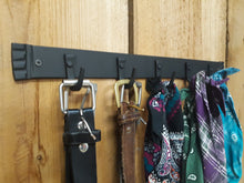Load image into Gallery viewer, Hand Forged Five Hook Organizer