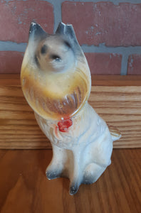 Carnival Chalkware Collie Dog Statue