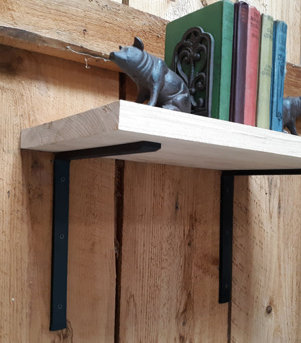 Set of 2 Hand Forged, Blacksmith Made Large Shelf Brackets