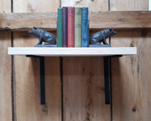Load image into Gallery viewer, Set of 2 Hand Forged, Blacksmith Made Large Shelf Brackets