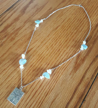 Load image into Gallery viewer, Tree of Life Amazonite and Rose Quartz Necklace
