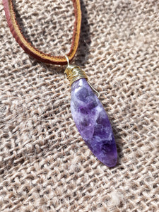 Alluring Amethyst Focal Point Crystal Necklace