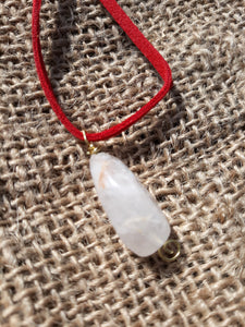 Clear Quartz Focal Point Necklace