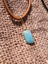 Load image into Gallery viewer, Amazonite Crystal Pendant Necklace