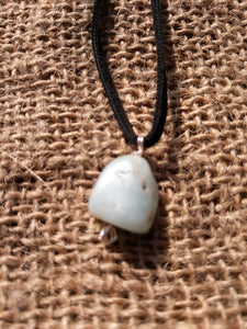 Amazonite Crystal Pendant Necklace