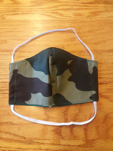 Camouflage Print Reversable Homemade Cotton Fabric Facemask