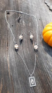 Spooky Skull and Hand Jewelry Set