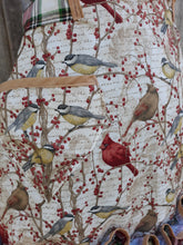 Load image into Gallery viewer, Winter Songbirds Apron.  Made from a Vintage 1940's Pattern!