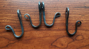 Set of 4 Sturdy Hand Forged Hooks made from Horseshoe Nails
