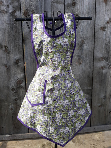 Blackberries & Blooms Vintage Inspired Apron