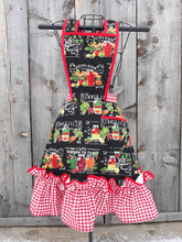 Load image into Gallery viewer, Heirloom Veggies and Gingham Vintage Inspired Apron