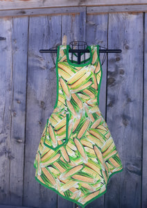 Sweet Corn by the Bushel Full Apron. Made from a Vintage 1940's Retro Pattern!