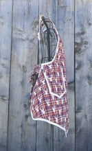 Load image into Gallery viewer, Stag's Head and Plaid Vintage Inspired Apron
