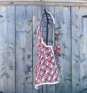 Stag's Head and Plaid Vintage Inspired Apron