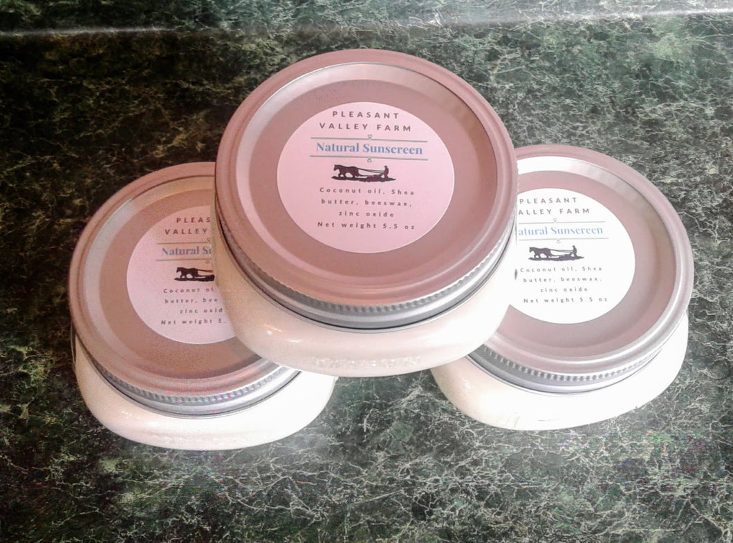 Eco-friendly, Unscented, All Natural Sunscreen made with Shea Butter and Zinc Oxide