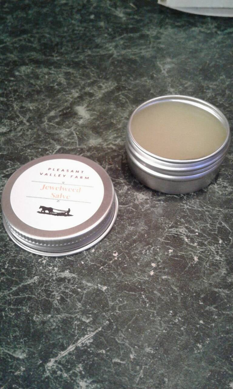 Travel Size Jewelweed Salve- Natural Care for Bug Bites, Poison Ivy, Rashes and more