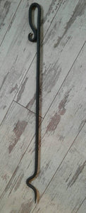 Hand Forged Fire Poker- Made of Salvaged Rebar