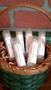 Natural Beeswax Lip Balms with Essential Oils