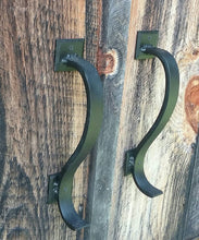 Load image into Gallery viewer, Set of 2 Gracefully Curved Hand Forged Door Pulls