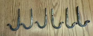 Set of 20 Hand Forged Hooks with Scrolled Ends