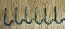 Load image into Gallery viewer, Set of 20 Hand Forged Hooks with Scrolled Ends