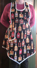 Load image into Gallery viewer, Whiskey Girl Full Apron for Hostess or Bartender. Made from a Vintage 1940's Retro Pattern!