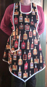 Whiskey Girl Full Apron for Hostess or Bartender. Made from a Vintage 1940's Retro Pattern!