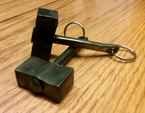Hand Forged Thor's Hammer Keychain, Blacksmith Made. Great Gift Idea!