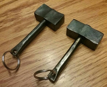 Load image into Gallery viewer, Hand Forged Thor's Hammer Keychain, Blacksmith Made. Great Gift Idea!