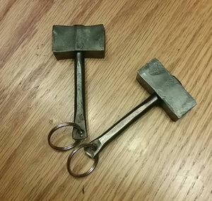 Hand Forged Thor's Hammer Keychain