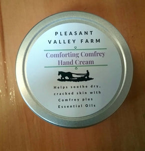 Comforting Comfrey Hard Working Hand Cream. Healing plant power for dry, cracked hands or eczema.
