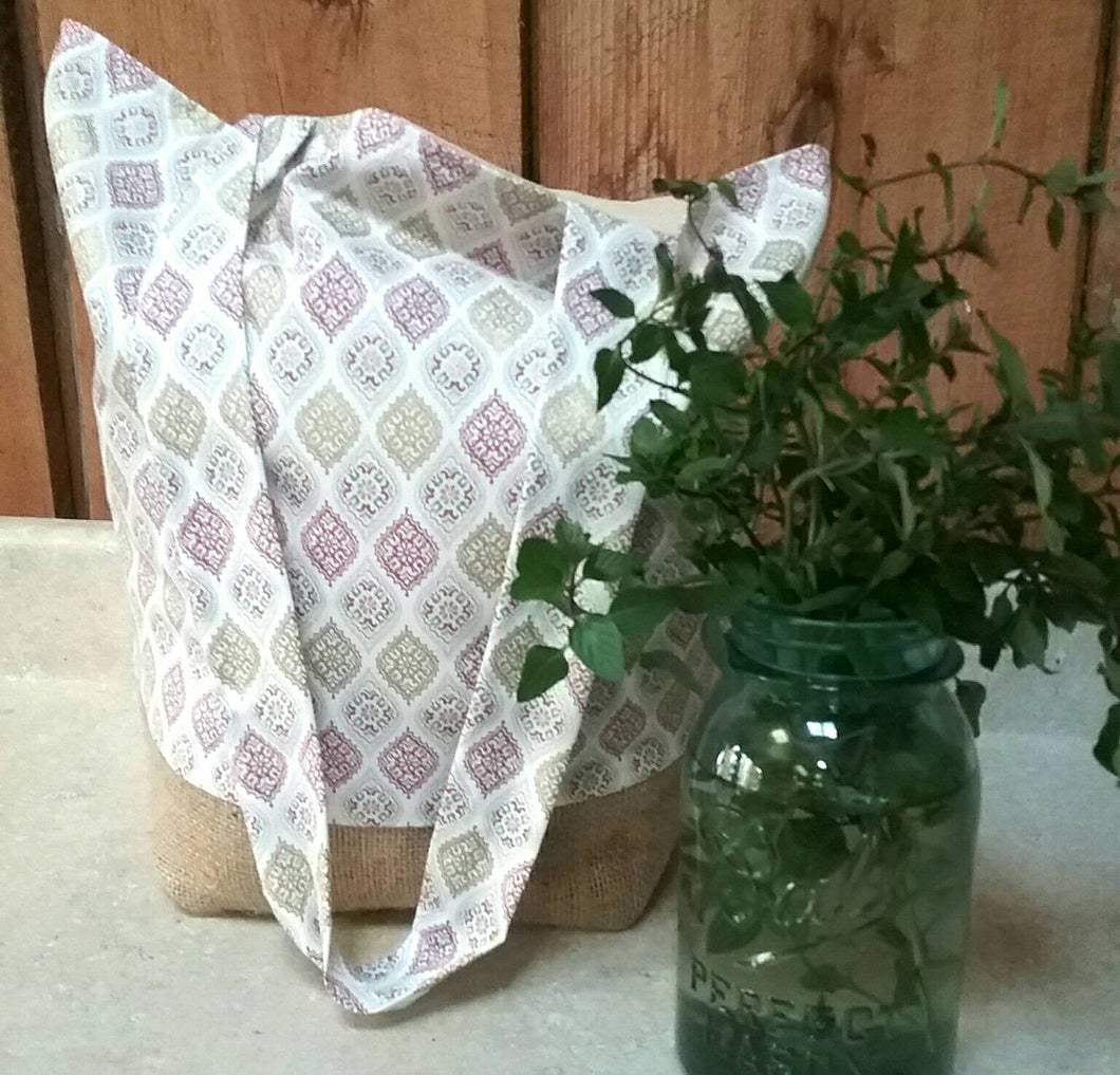Glimmer of Gold Tote Bag or Purse Made with Recycled Coffee Burlap Sack. Great for the farmer's market or grocery shopping!