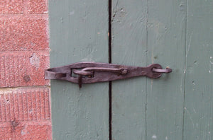 Set of 2 Hand Forged Handles and a Latch