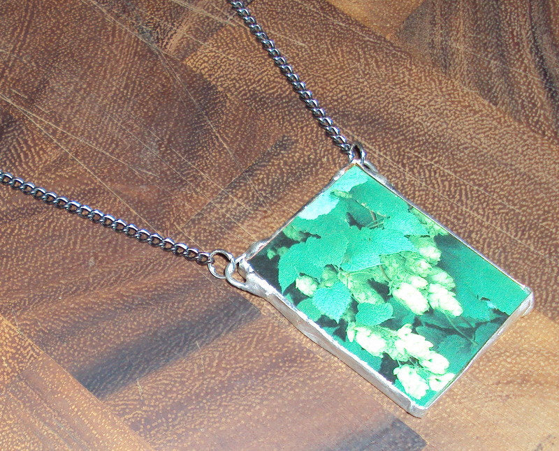 Hop Head Upcycled Seed Catalog Necklace- Great for Gardeners, Homebrewers, or Microbrew Enthusiasts!