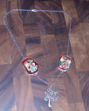 Load image into Gallery viewer, Wear Your Food Collection: Apple Tree Upcycled Seed Catalog Necklace- Great for Gardeners, Cooks and Foodies!