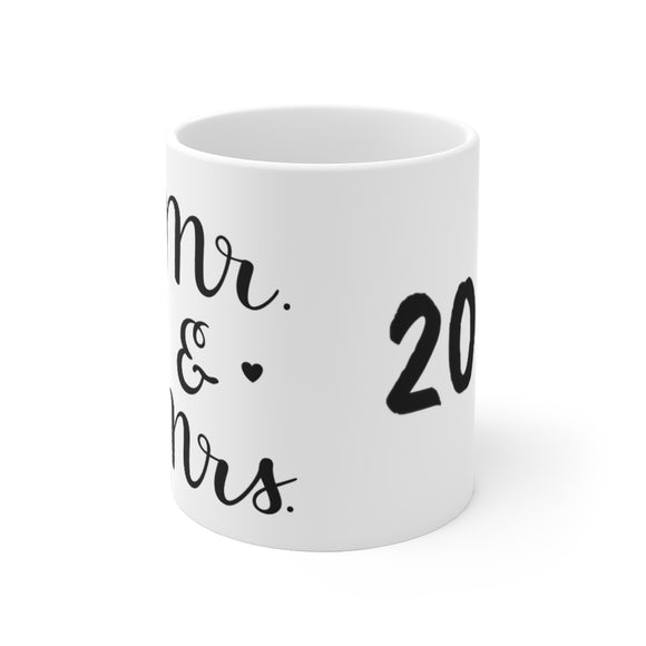 White Ceramic Mug- Mr. & Mrs. 2020
