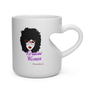 Heart Shape Mug Proverbs 31 Woman