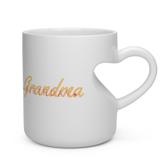 Heart Shape Mug Grandma Birthday