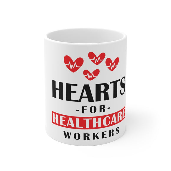 White Ceramic Mug-Health Care Love