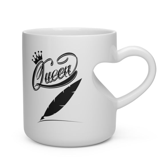 Heart Shape Mug Queen Author