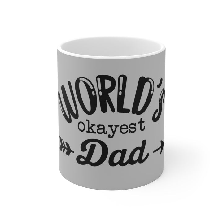 White Ceramic Mug-Worlds Dad
