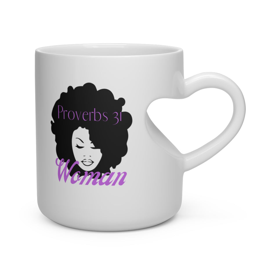 Heart Shape Mug Proverbs31 Woman