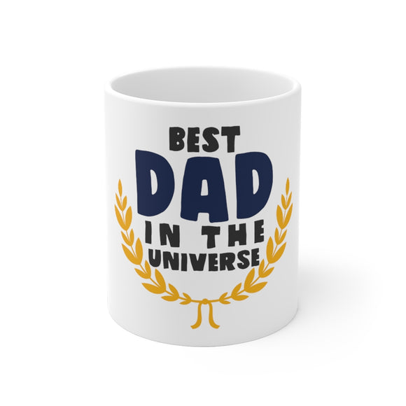 White Ceramic Mug-Best Dad