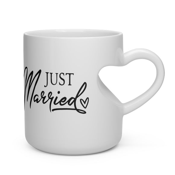 Heart Shape Mug Just Married